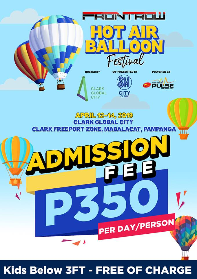 Frontrow Hot Air Balloon Festival - admission fee