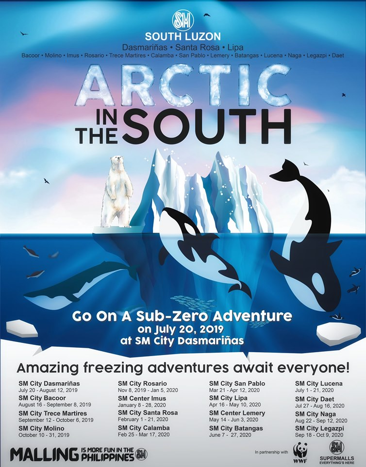 SM Supermalls Arctic In The South schedule