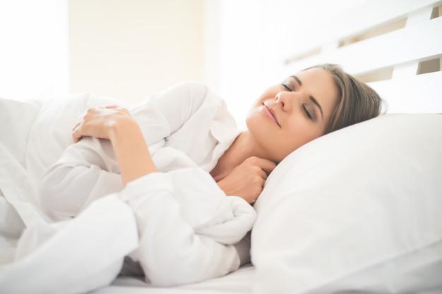 woman side sleeping