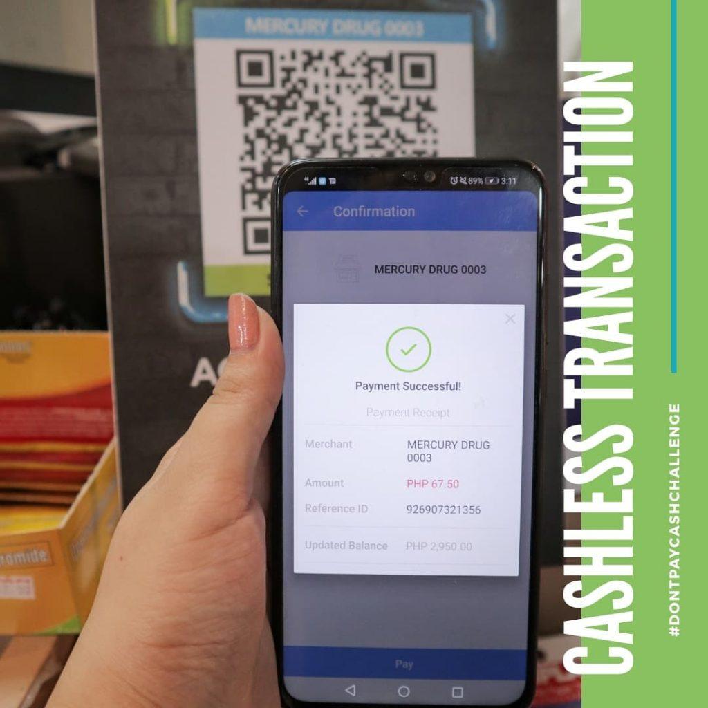 cashless transaction - paymaya