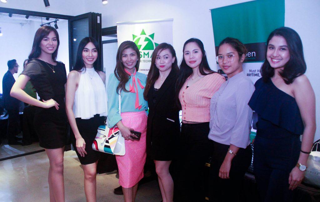 Ms. Jenny Lin Maaño- Ngai, President of SunSmart and her Team