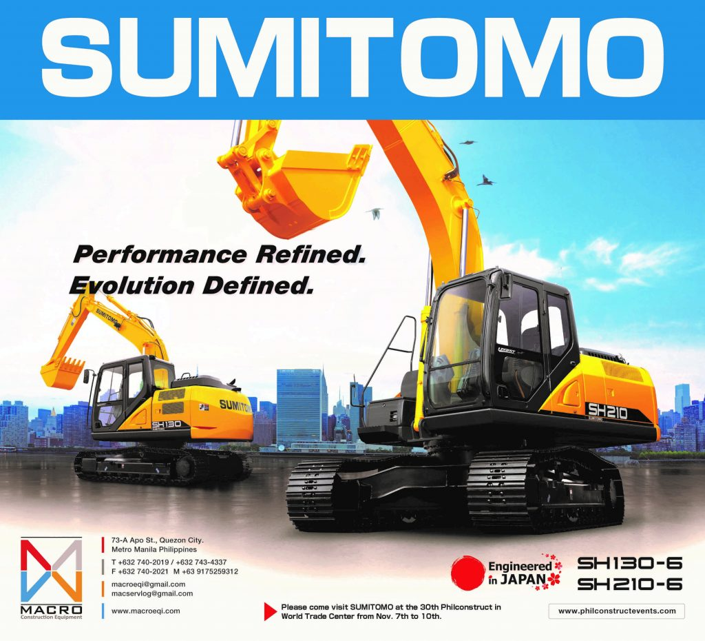 Sumitomo Will Be Joining In Philconstruct Expo 2019