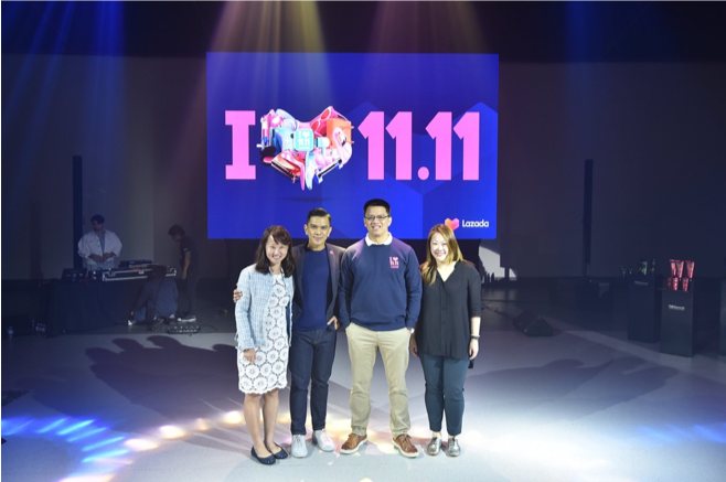 L-R: Chelsea Phua (Lazada Group Vice President for Public Relations), Neil Trinidad (Lazada PH Chief Marketing Officer), Ray Alimurung (Lazada PH Chief Executive Officer), Fiona Heng (Lazada Group Senior. Manager for Public Relations).