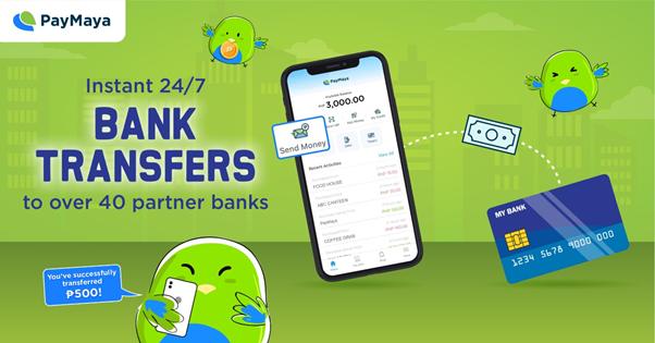 PayMaya bank transfers