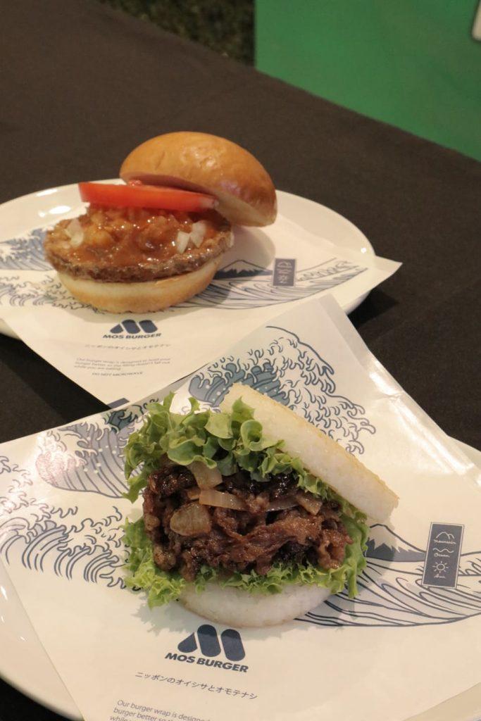 (Top-Bottom): MOS Cheeseburger and MOS Yakiniku Rice Burger