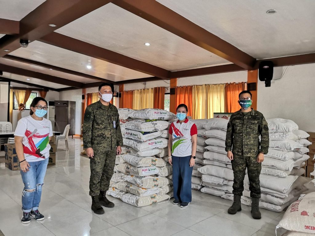 1250 kg of rice donation