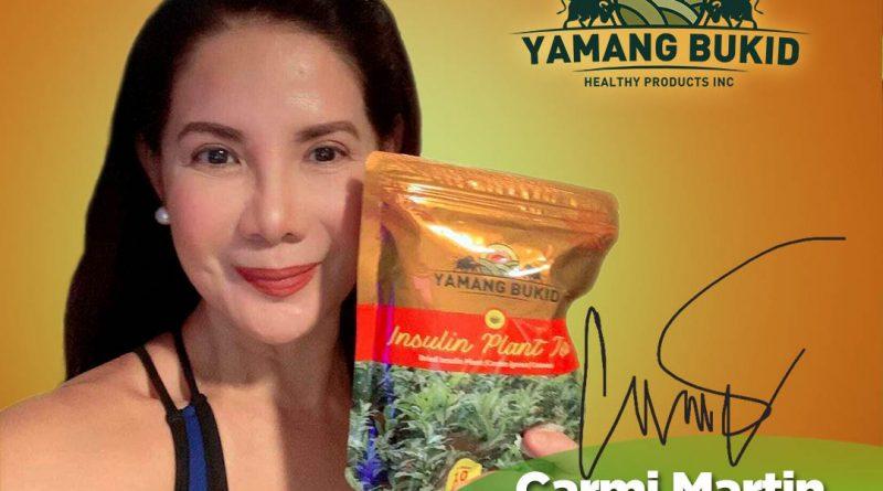 Carmi Martin with Yamang Bukid Insulin Plant Tea